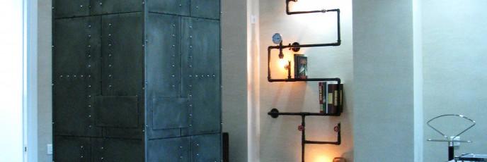 колонна и полка - светильник для книг